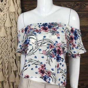 TeenBell | Off Shoulder Blouse Floral
